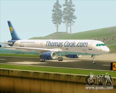 Airbus A321-200 Thomas Cook Airlines for GTA San Andreas right view