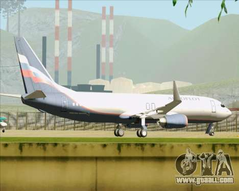 Boeing 737-8LJ Aeroflot - Russian Airlines for GTA San Andreas bottom view