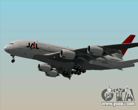 Airbus A380-800 Japan Airlines (JAL) for GTA San Andreas back left view
