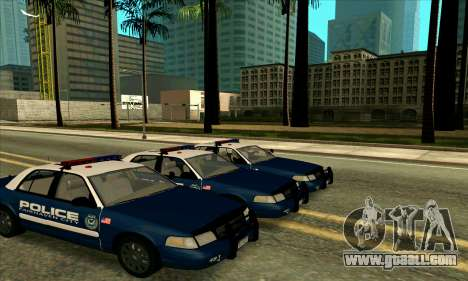 FCPD Ford Crown Victoria for GTA San Andreas back left view