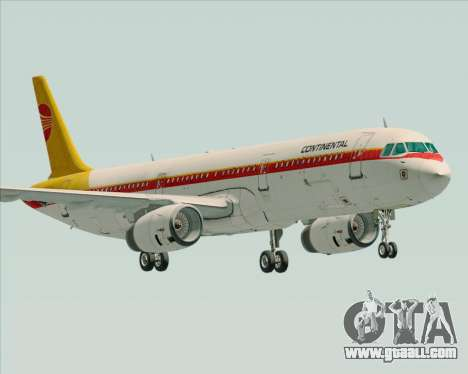 Airbus A321-200 Continental Airlines for GTA San Andreas