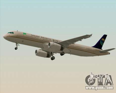 Airbus A321-200 Saudi Arabian Airlines for GTA San Andreas engine