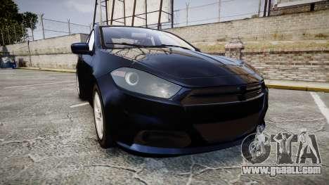Dodge Dart 2013 Undercover [ELS] for GTA 4