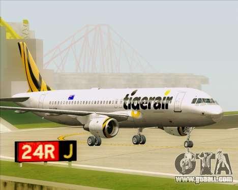 Airbus A320-200 Tigerair Australia for GTA San Andreas left view