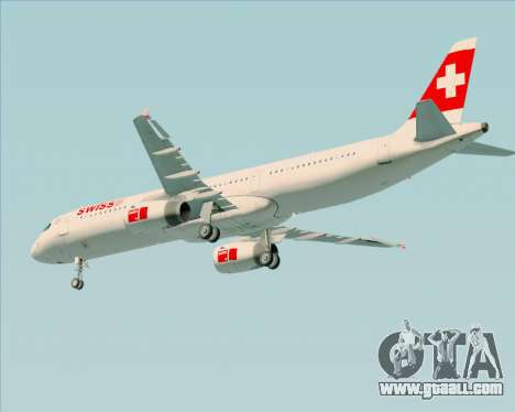 Airbus A321-200 Swiss International Air Lines for GTA San Andreas wheels