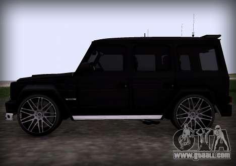 Brabus 800 for GTA San Andreas back view