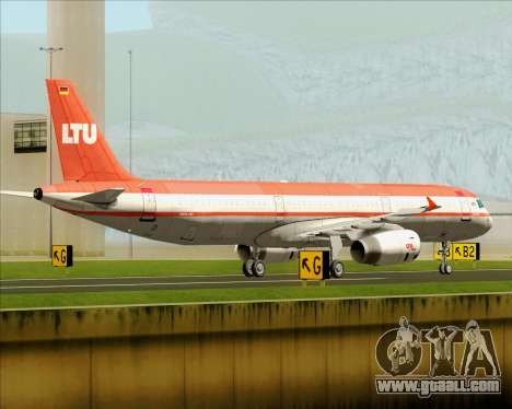 Airbus A321-200 LTU International for GTA San Andreas back left view