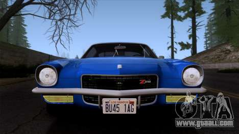 Chevrolet Camaro Z28 1970 (ImVehFt) for GTA San Andreas back view