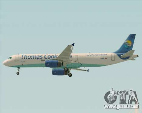 Airbus A321-200 Thomas Cook Airlines for GTA San Andreas upper view