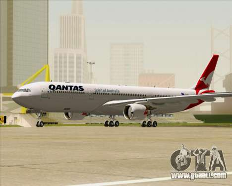Airbus A330-300 Qantas (New Colors) for GTA San Andreas left view