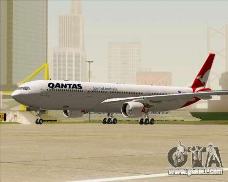 Airbus A330-300 Qantas (New Colors) for GTA San Andreas left view