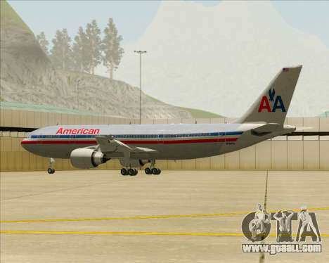 Airbus A300-600 American Airlines for GTA San Andreas wheels