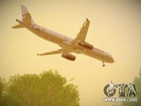 Airbus A321-232 jetBlue I love Blue York for GTA San Andreas side view