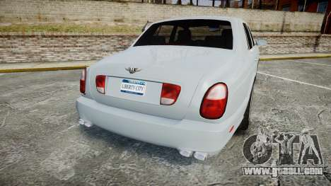 Bentley Arnage T 2005 Rims1 Chrome for GTA 4 back left view