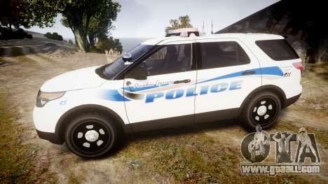 Ford Explorer 2013 PS Police [ELS] for GTA 4 left view