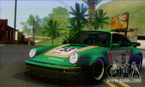 Porsche 930 Turbo Look 1985 Tunable for GTA San Andreas bottom view