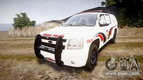 Chevrolet Suburban 2008 Hebron Police [ELS] Red for GTA 4
