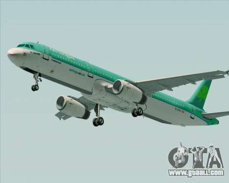 Airbus A321-200 Aer Lingus for GTA San Andreas back left view