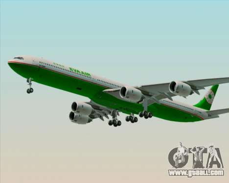 Airbus A340-600 EVA Air for GTA San Andreas bottom view