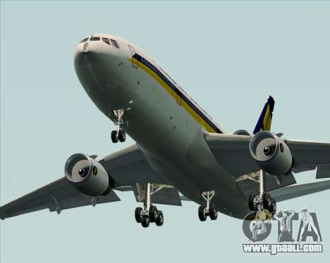 McDonnell Douglas DC-10-30 Singapore Airlines for GTA San Andreas bottom view