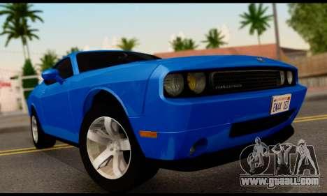 Dodge Challenger SXT Plus 2013 for GTA San Andreas back left view
