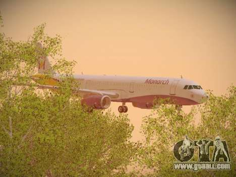 Airbus A321-232 Monarch Airlines for GTA San Andreas side view