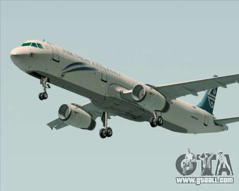 Airbus A321-200 Air New Zealand for GTA San Andreas back left view