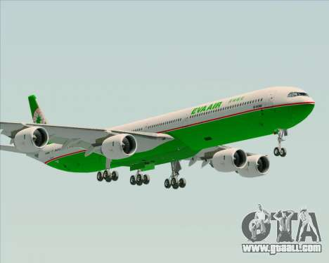 Airbus A340-600 EVA Air for GTA San Andreas left view