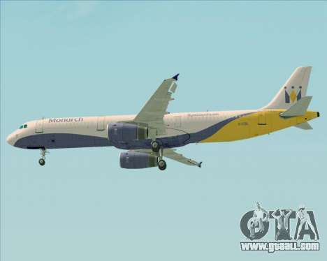 Airbus A321-200 Monarch Airlines for GTA San Andreas wheels