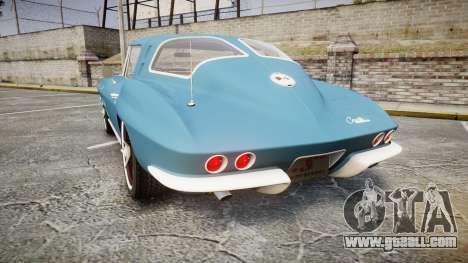 Chevrolet Corvette Stingray 1963 v2.0 for GTA 4 back left view