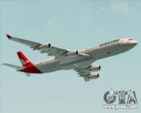 Airbus A340-300 Qantas for GTA San Andreas right view