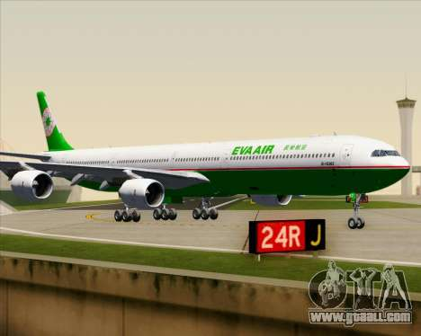 Airbus A340-600 EVA Air for GTA San Andreas upper view