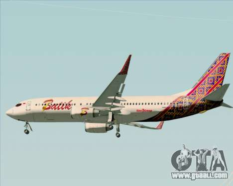 Boeing 737-800 Batik Air for GTA San Andreas bottom view
