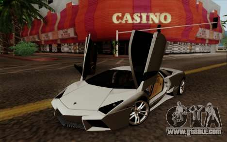 Lamborghini Reventon 2008 for GTA San Andreas back left view