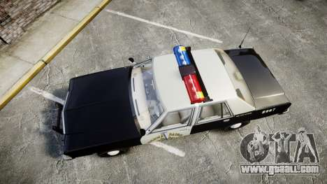 Ford LTD Crown Victoria 1987 Police CHP1 [ELS] for GTA 4 right view