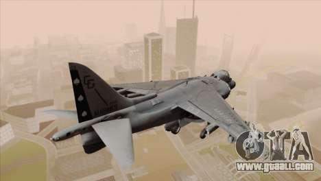 EMB AV-8 Harrier II USA NAVY for GTA San Andreas left view