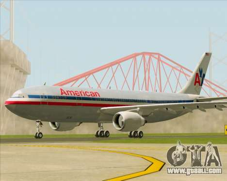 Airbus A300-600 American Airlines for GTA San Andreas back left view