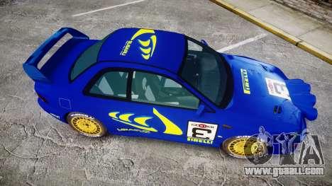 Subaru Impreza WRC 1998 Rally v2.0 Yellow for GTA 4 right view