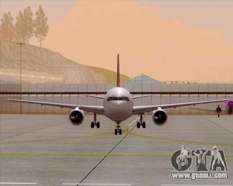 Boeing 767-300ER Qantas (Old Colors) for GTA San Andreas interior