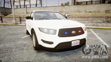 GTA V Vapid Interceptor LSS White [ELS] Slicktop for GTA 4