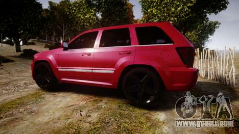 Jeep Grand Cherokee SRT8 license plates for GTA 4 left view