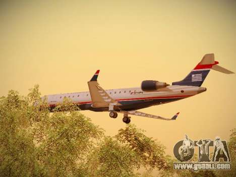 Bombardier CRJ-700 US Airways Express for GTA San Andreas bottom view