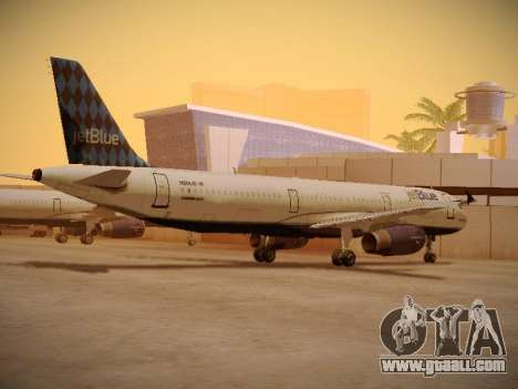 Airbus A321-232 jetBlue Airways for GTA San Andreas back view