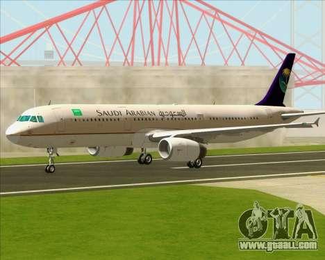 Airbus A321-200 Saudi Arabian Airlines for GTA San Andreas inner view