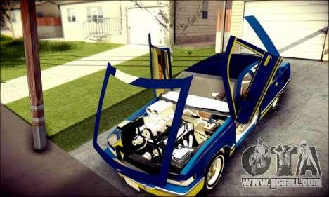 Cadillac Fleetwood 1993 Lowrider for GTA San Andreas inner view