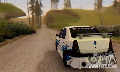 Dacia Logan Tuning for GTA San Andreas back left view