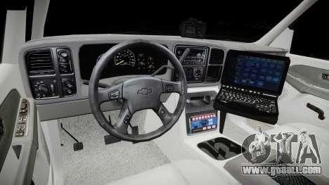 Chevrolet Suburban Undercover 2003 Grey Rims for GTA 4 back view