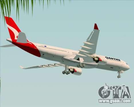 Airbus A330-300 Qantas (New Colors) for GTA San Andreas upper view