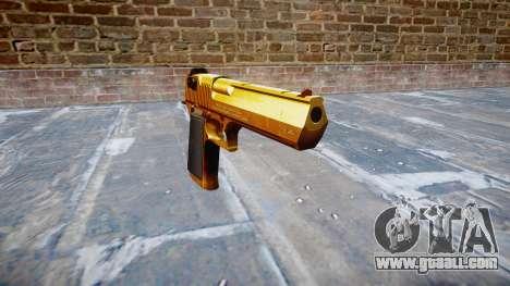 Gun IMI Desert Eagle Mk XIX Gold for GTA 4