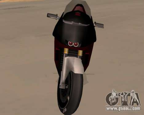NRG-500 Winged Edition V.1 for GTA San Andreas inner view
